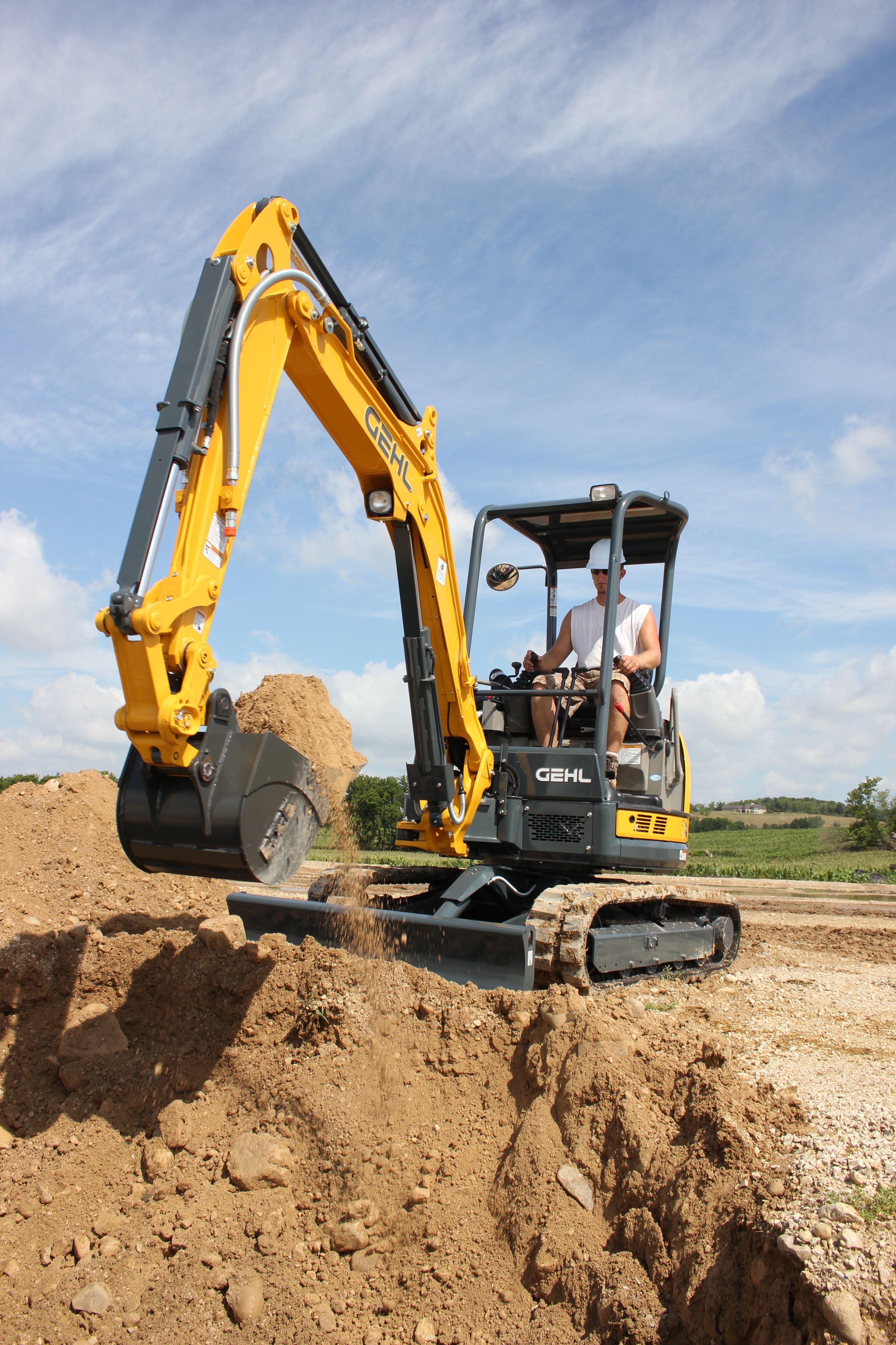 Gehl's Z35 compact excavator has a digging depth of 10