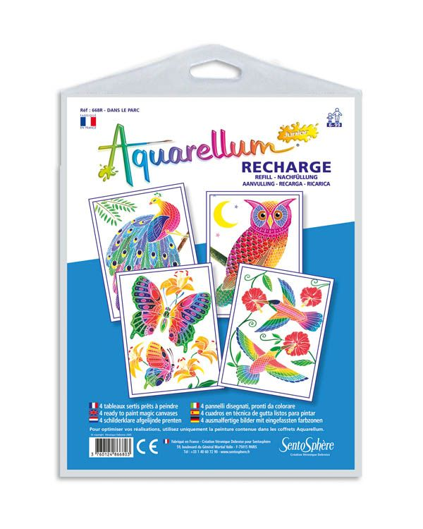 Aquarellum Junior Owls Paint Set By Sentosphere Usa Owl Painting