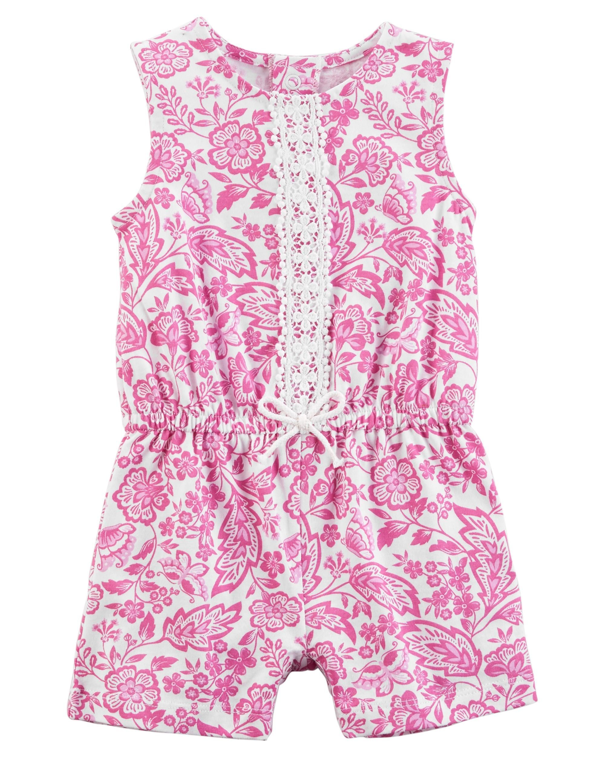 60c743d8d118 Baby Girl Lace Romper from Carters.com. Shop clothing   accessories from a  trusted