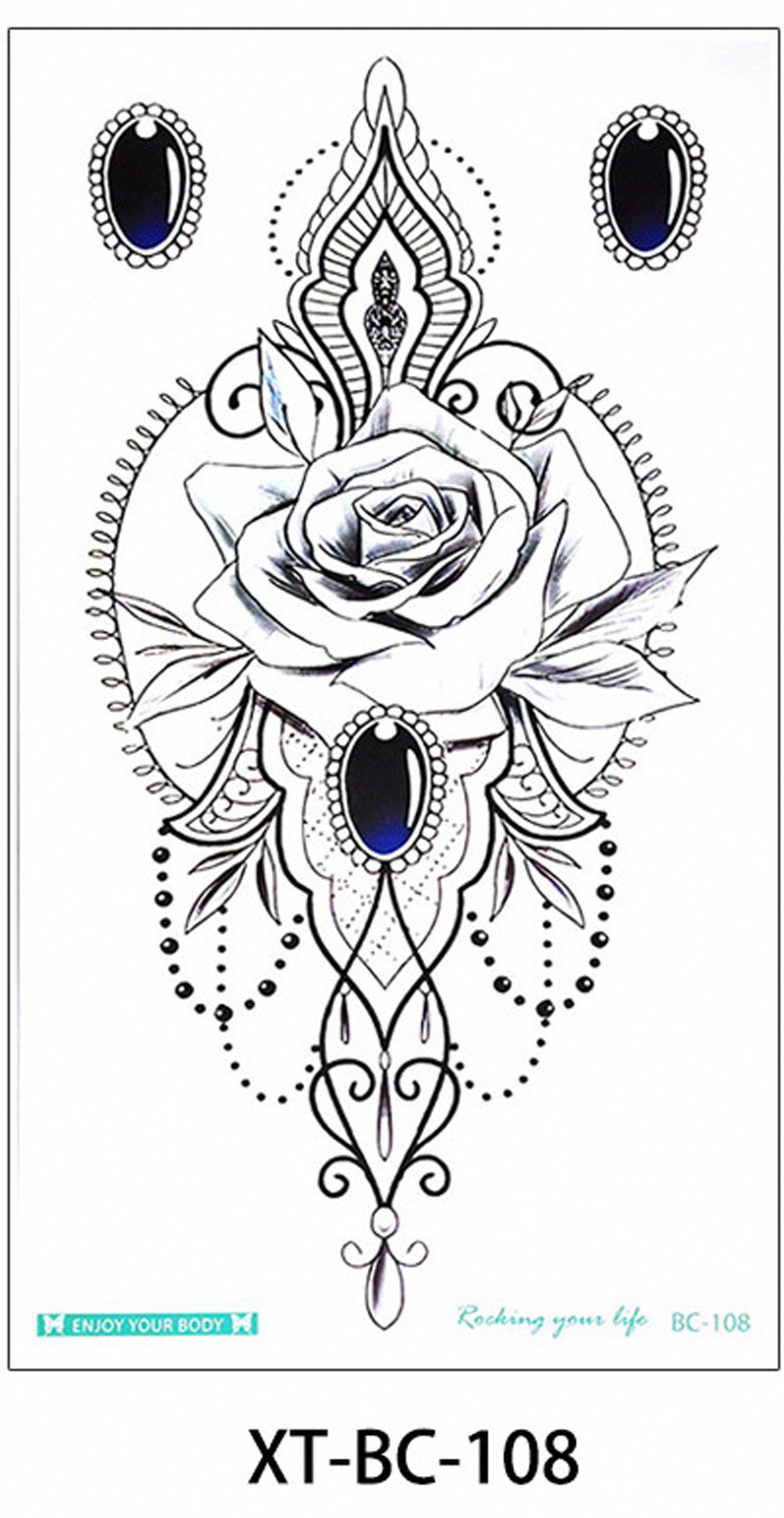 Manya Tribal Boho Rose Jewelry Chandelier Temporary Tattoo Mandalatattoo Pattern Tattoo Turtle Tattoo Designs Mandala Tattoo
