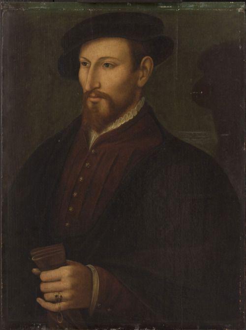 ab. 1550 Artist unknown, active lower Rhine, German - Portrait of a Gentleman