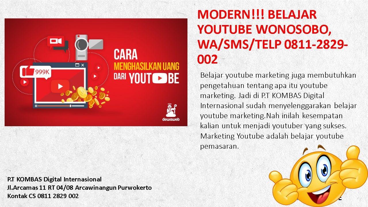 Modern Belajar Youtube Wonosobo Wa Sms Telp 0811 2829 002 Belajar Youtuber Pengetahuan