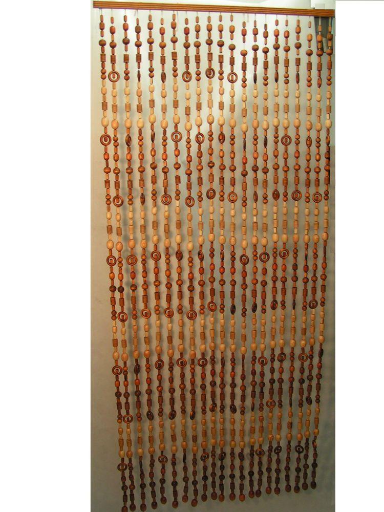 Turvorhang Holzperlen Vorhang Massivholz 90cm 21 Strangen Mobel Wohnen Dekoration Aussen Turdekoration Ebay Holzperlen Vorhange Tur Vorhang