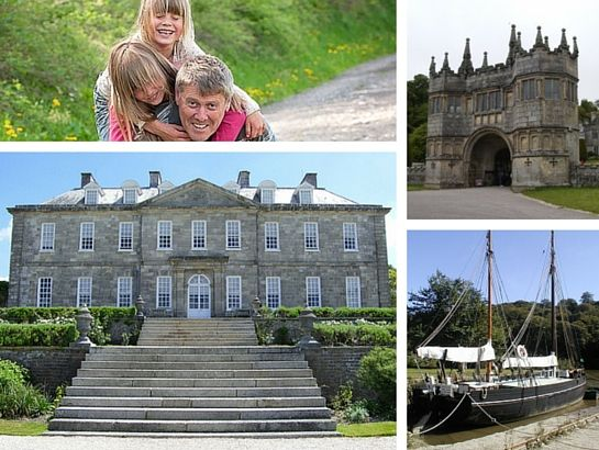 Lanhydrock and Antony house in South East Cornwall