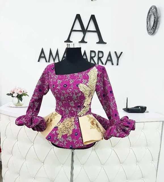 Classiest Ankara Peplum Top Designs And Styles Of 2018 For