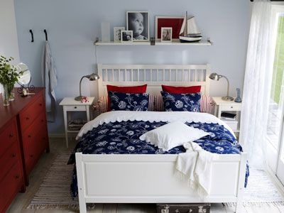 schlafzimmer in blau wei rot schlafzimmer pinterest. Black Bedroom Furniture Sets. Home Design Ideas
