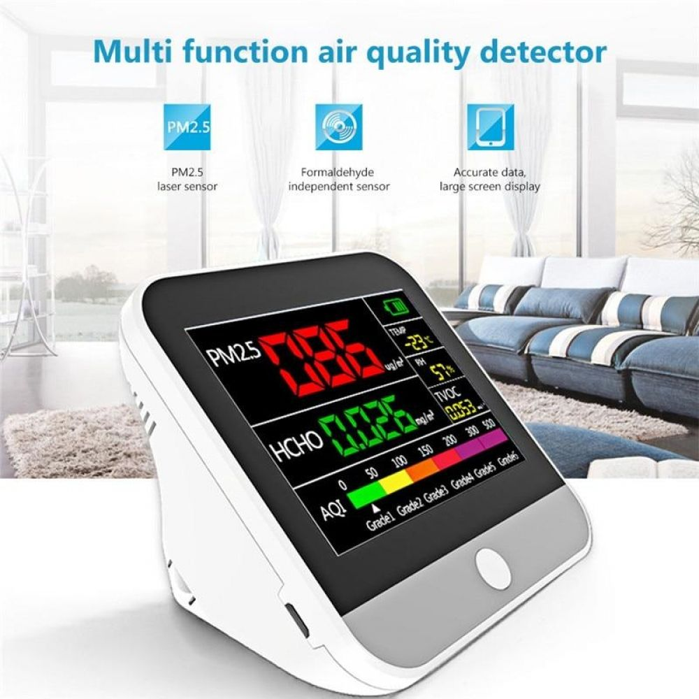 Multifunction PM2.5 Air Quality Monitor Gas Analyzer Dust