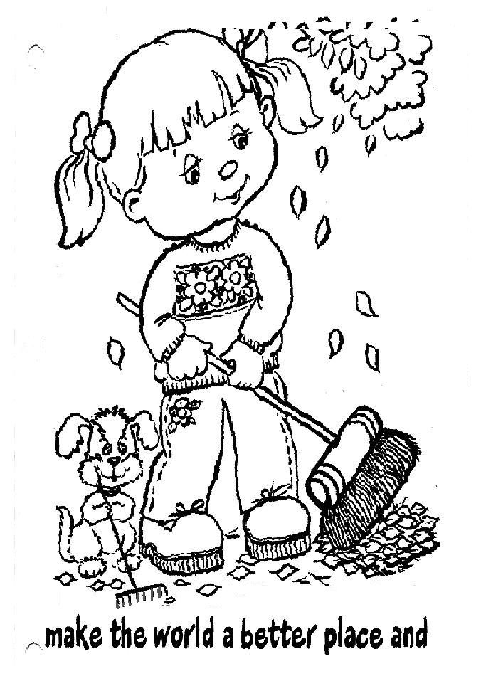 girl scouts coloring pages--one for each line of GS law