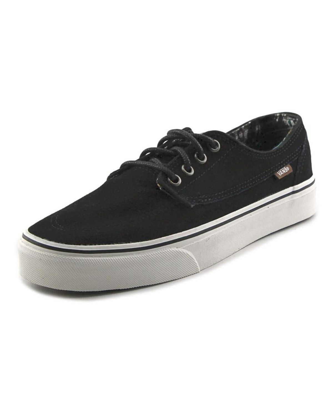 ec4c9df75970 VANS VANS BRIGATA MEN ROUND TOE SYNTHETIC BLACK SNEAKERS .  vans  shoes   sneakers
