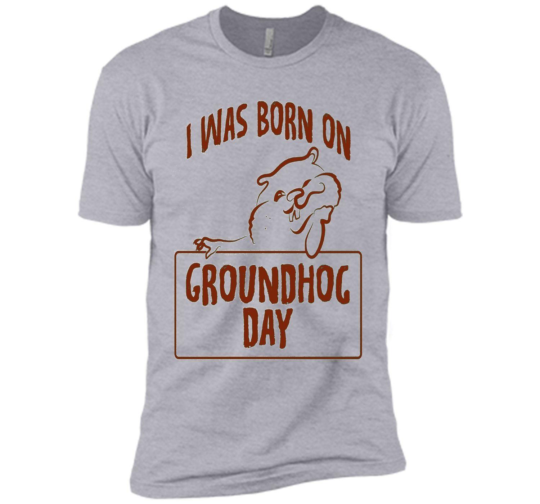 I was born on Groundhog Day T-shirt Adorable Groundhog tee