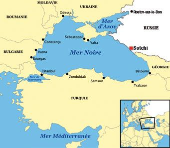 Map Showing Where Sochi Russia Is Located Sea Of Azov Black