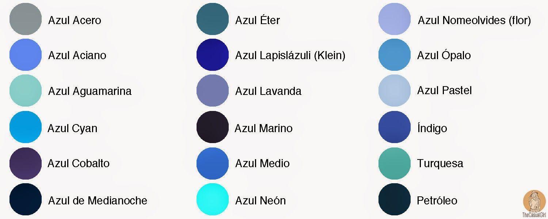 Tonos De Azul Nombres Buscar Con Google Gama De Colores Azules Nombres De Colores Tonalidades De Azul