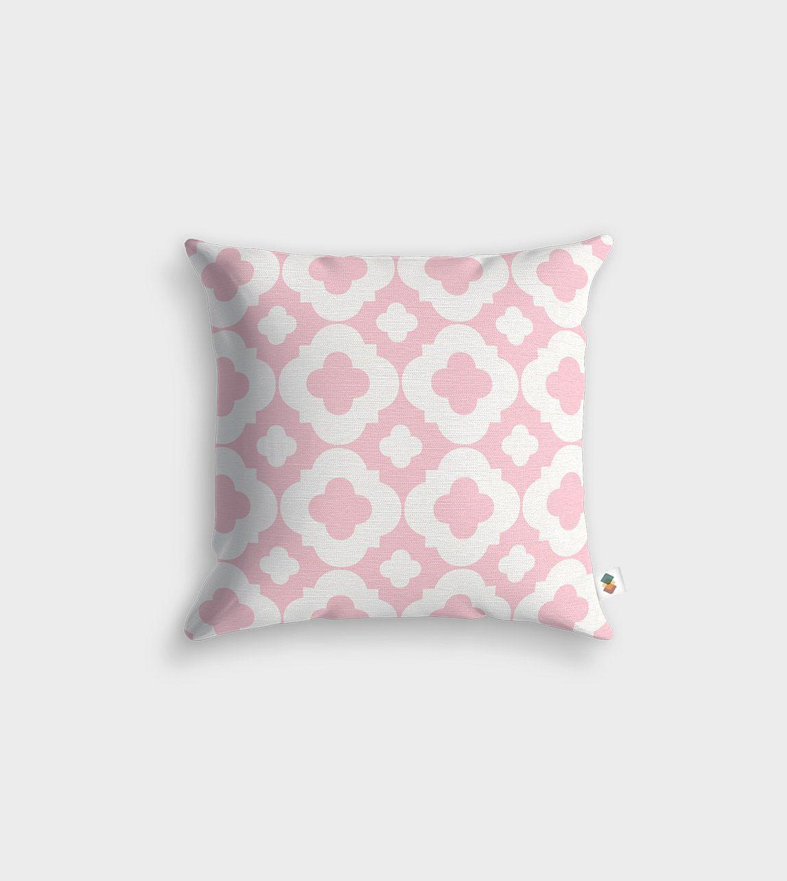 coussin honorine pêche - 45x45cm | couleur rose pale, rose pale et