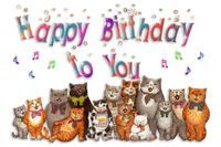 Cat Group Cats Singing Happy Birthday To You Emoticon Emoticons Animated Animation Animations Gif photo by prestonjjrtr #katzengeburtstag