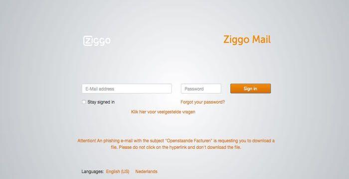 email inloggen ziggo