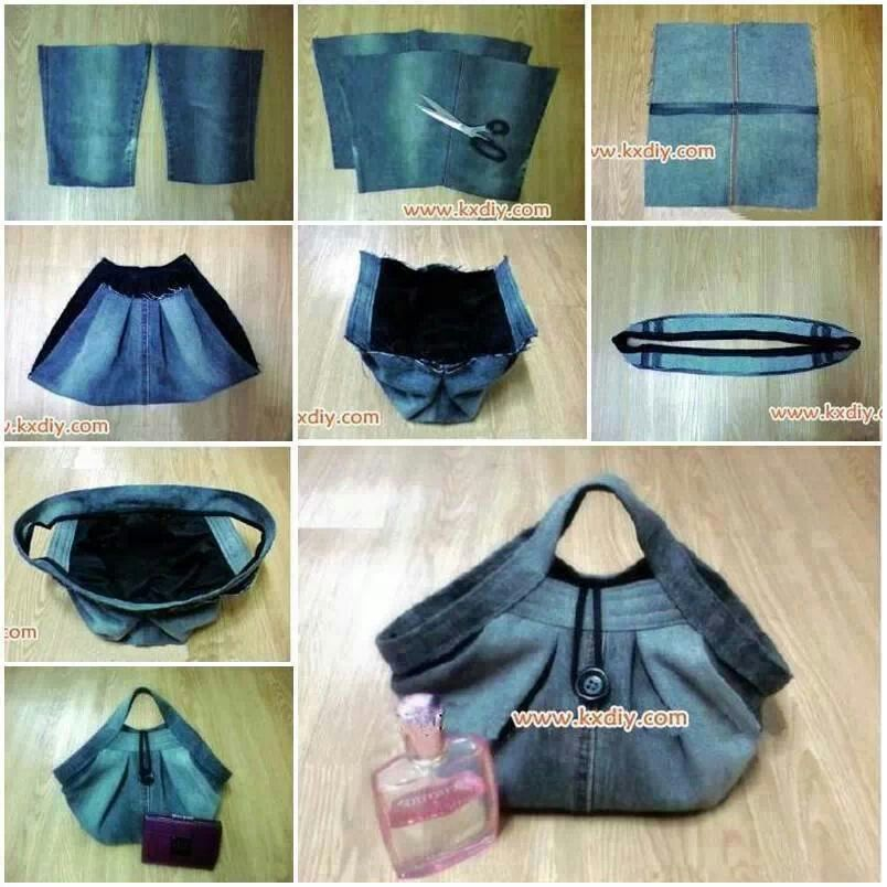 Best of waste jeans crafts pinterest craft for Best of waste things