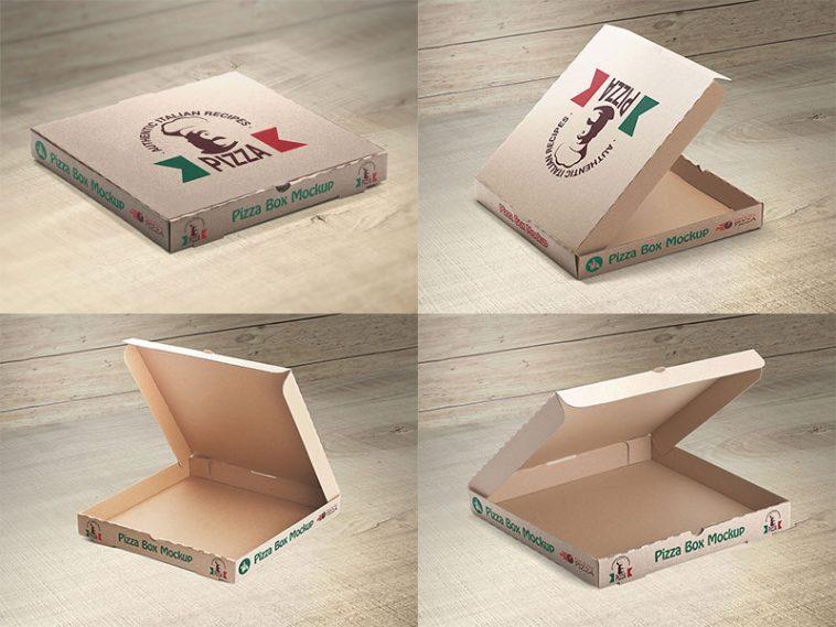 Download Free 4 Pizza Packaging Box Mockups Set Free Package Mockups Box Mockup Free Packaging Mockup Mockup