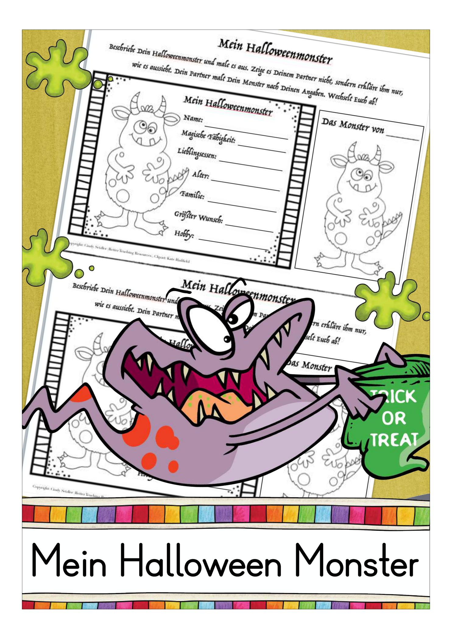 Halloween Monster Unterrichtsmaterial In Den Fachern