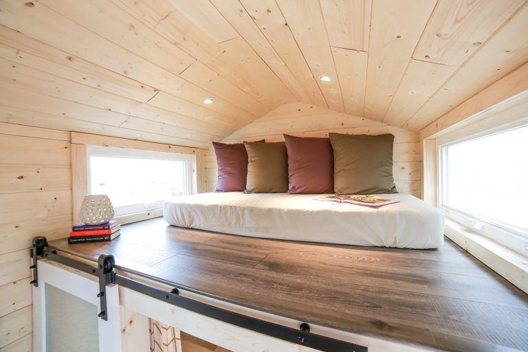 Tiny Dream Home On Wheels With Two Sleeping Lofts Tiny