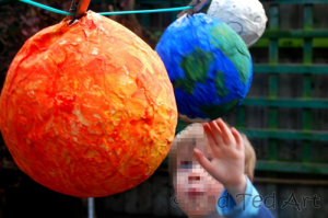 Tutorial : Making Paper Mache Solar System Planets Craft