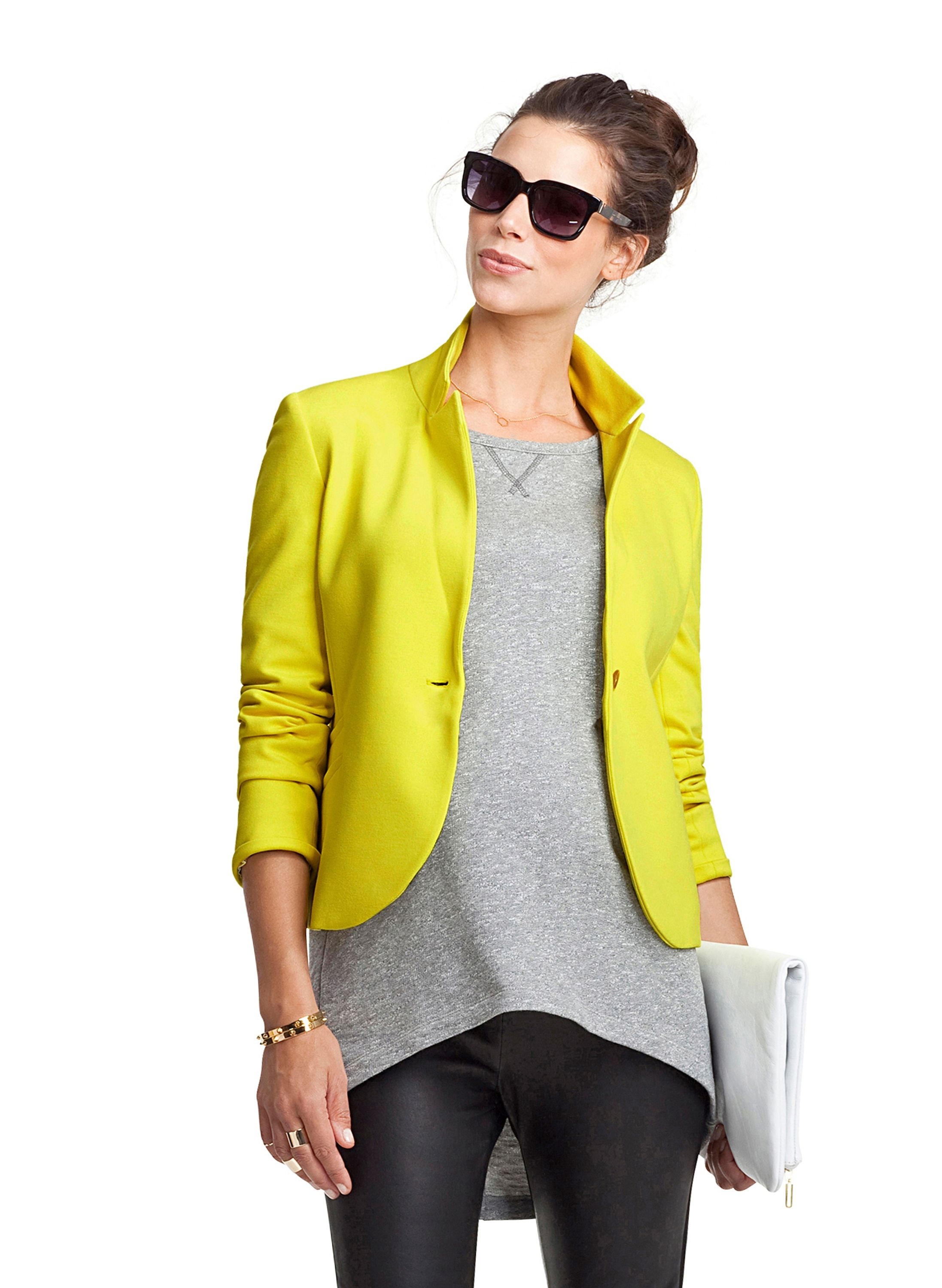 a0180c6a40 Alden Maternity Blazer in Yellow