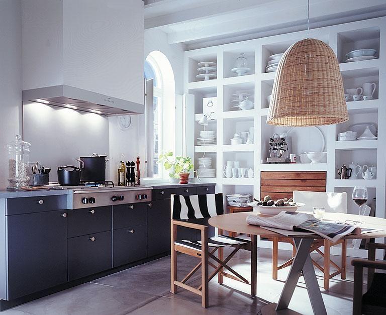 Farben für kleine Räume Dunkle Unterschränke in der Küche vergrößern - schöner wohnen küchen