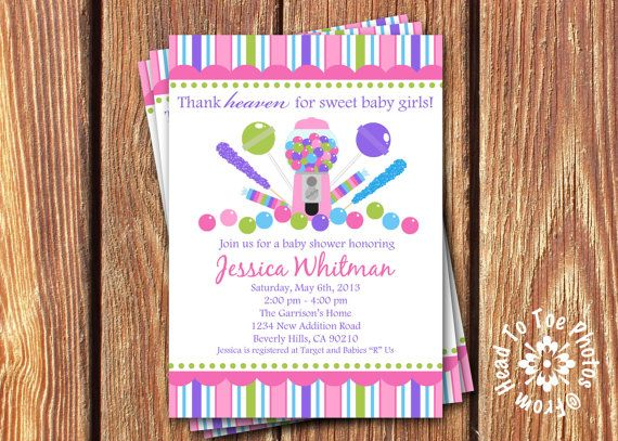 Candy baby shower invitations by fromheadtotoedesigns invitations candy baby shower invitations by fromheadtotoedesigns filmwisefo