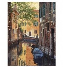 Candamar Counted Cross Stitch Kit - Venetian Back Alley 52415