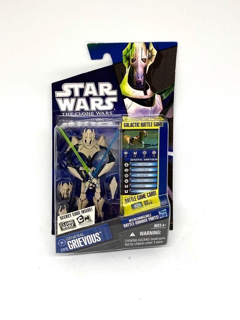 Star Wars The Clone Wars General Grievous Cw10 Animated Action Figure Condition Is New Star Wars Clone Wars Clone Wars Star Wars