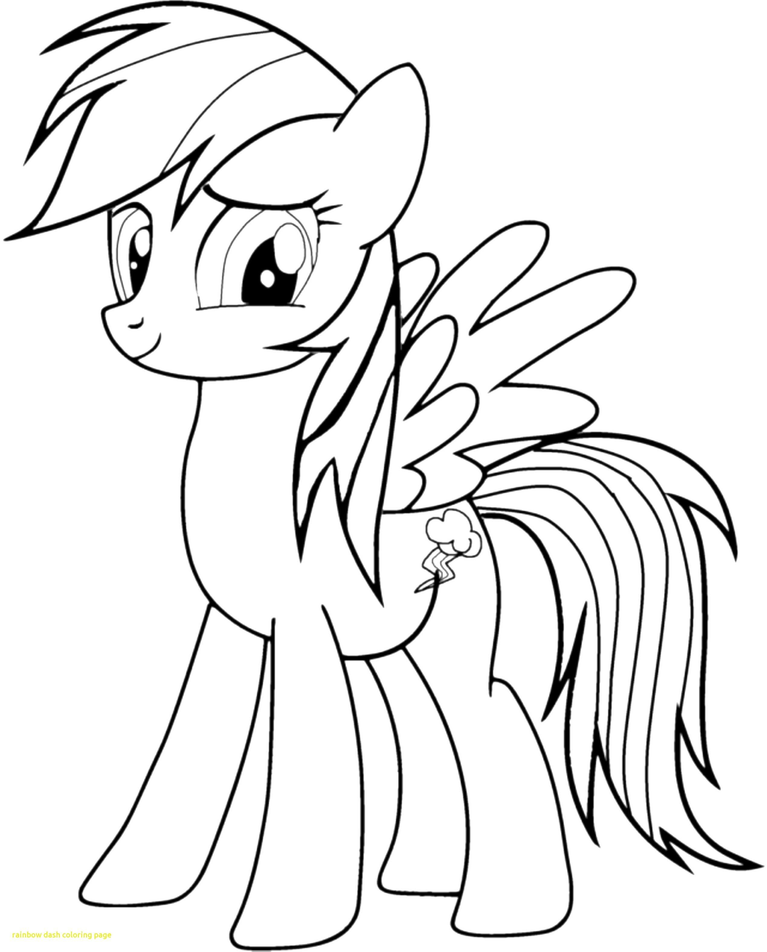 My Little Pony Coloring Pages Rainbow Dash Through The