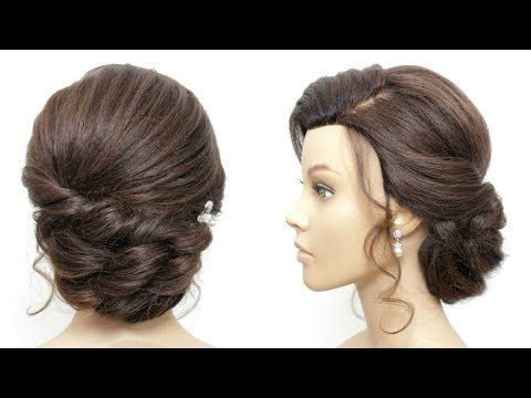 Elegant Bridal Prom Updo Tutorial For Long And Medium Hair. - YouTube #updotutorial