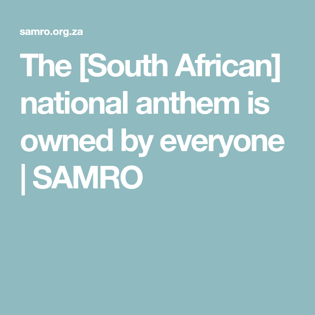 s african national anthem