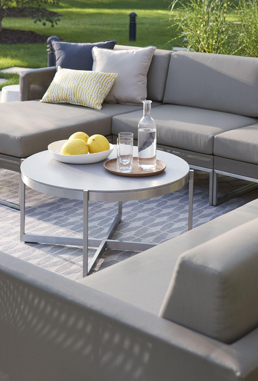 Dune Left Arm Chaise With Sunbrella ® Cushions. Round Coffee TablesIndoor  OutdoorOutdoor ...