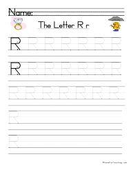 Letter R Handwriting Practice | Kindergarten | Handwriting ...