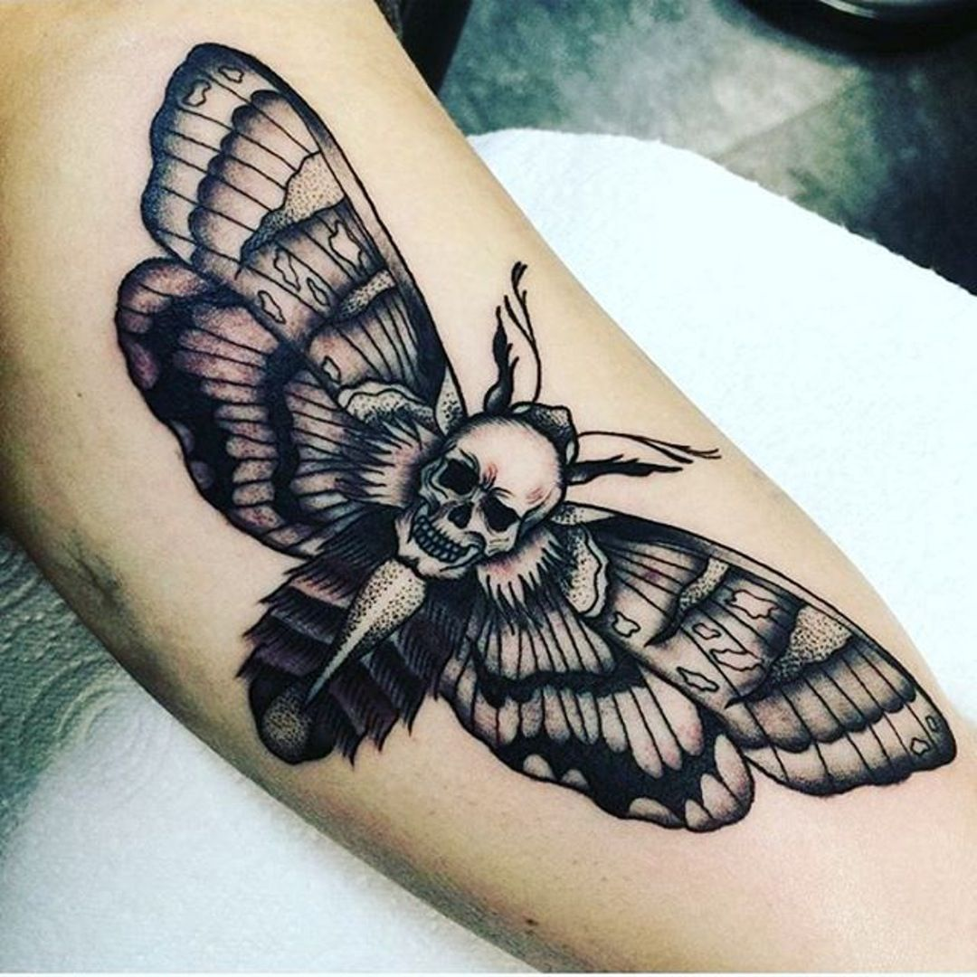 Totenkopfschwarmer Moth Tattoo Death Moth Tattoo Death Head Moth Tattoo