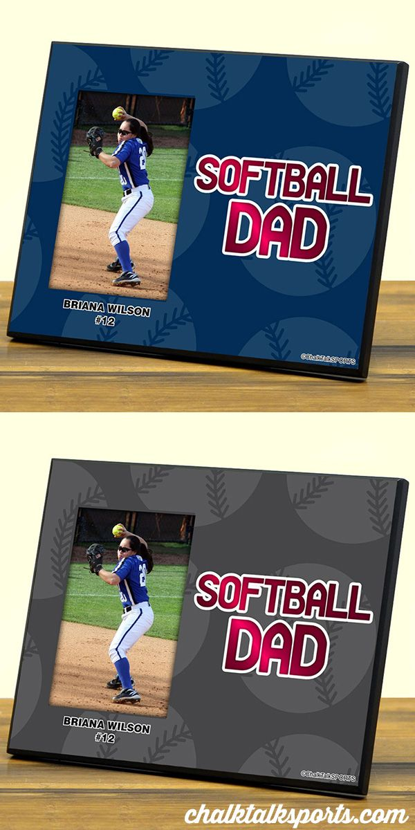 Cute Softball Dad Frame to customize with player photo ...