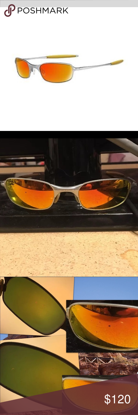 8fb0b39ff4 RARE Oakley Square Wire 2.0 Sunglasses Fire ORANGE Oakley Square Wire 2.0.  Frames  solid