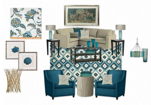 Teal Living Room By Goodwinr