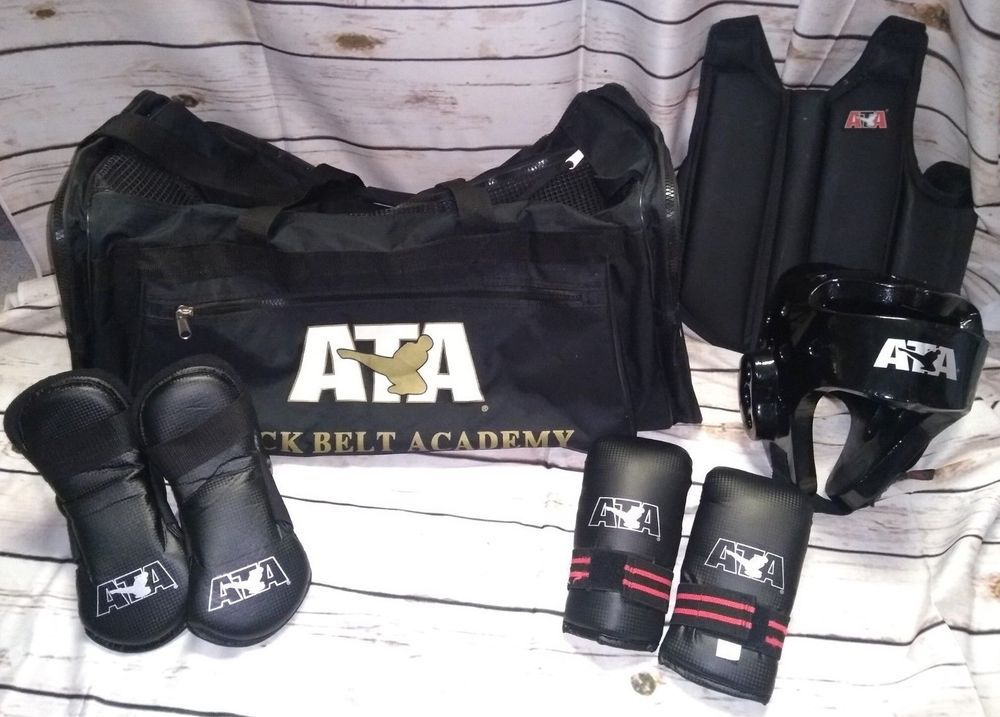 ATA Taekwondo Black Belt Bag & Sparring Gear Martial Arts Youth