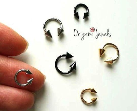 16g Horseshoe Ring With Cone Ends Horseshoe Earrings Septum Earrings Horseshoe Ring