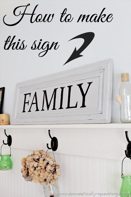 , Learn how to make a Family Sign from a cabinet door., Family Blog 2020, Family Blog 2020