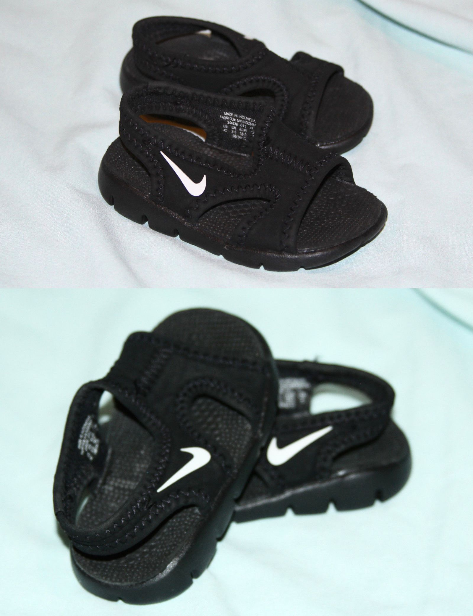 Baby Boy Shoes Nike Baby Sunray Sandals Black White Water Shoes