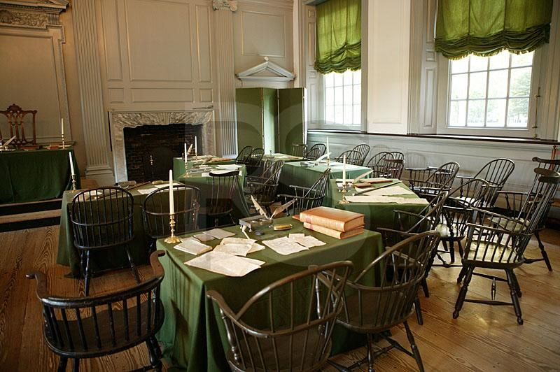 Room Where The Declaration Of Independence Was Signed At Independence Hall Philadelphia Been