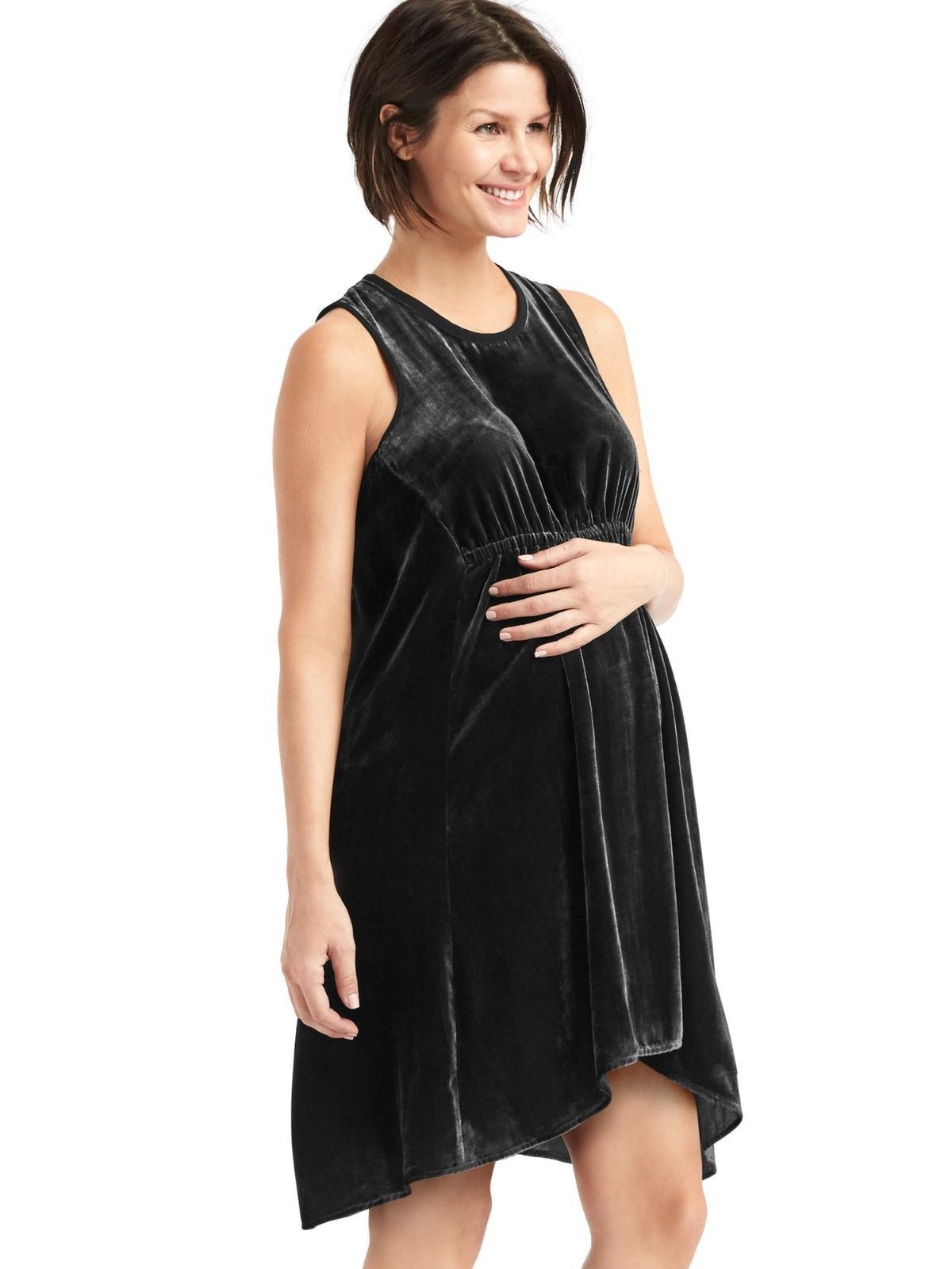 Awesome amazing gap womens maternity holiday black velvet awesome amazing gap womens maternity holiday black velvet racerback dress size m medium nwt 2017 2018 ombrellifo Gallery