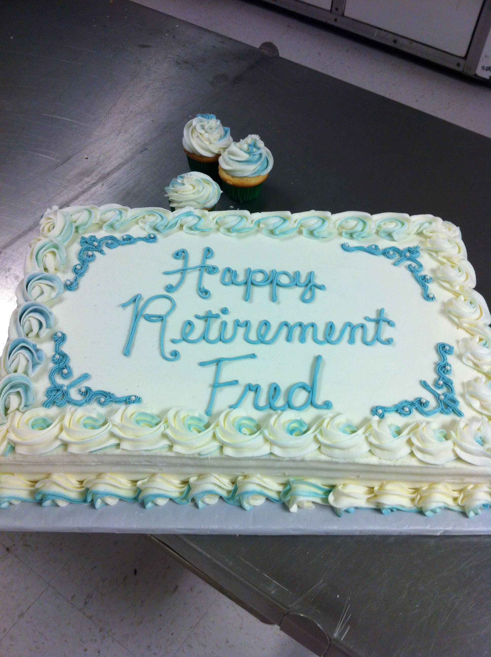 Retirement cake Retirement cakes, Cake decorating