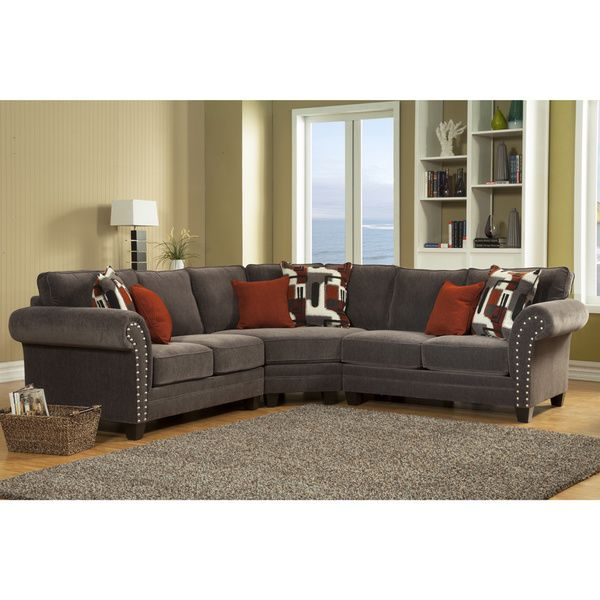 Furniture Of America Essence Chenille Sectional Sofa   Overstock™ Shopping    Big Discounts On Furniture