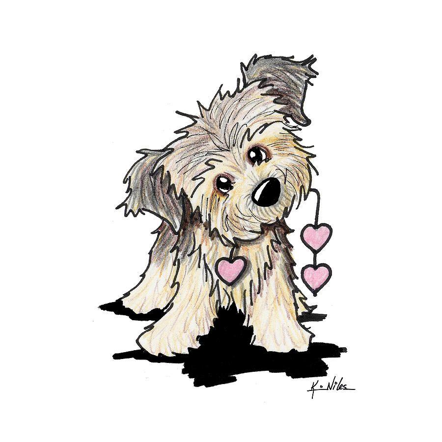 Border Terrier Heart Strings Saint Valentine S Day Cards Art