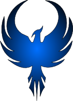 Blue Phoenix Logo Google Search Phoenix Bird Art Tribal Art Silhouette Art