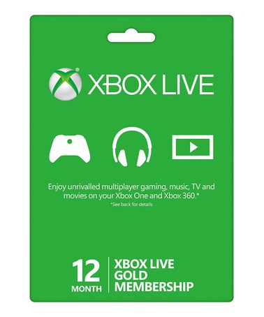 Another great find on #zulily! XBox Live 12-Month Gold Card Membership #zulilyfinds