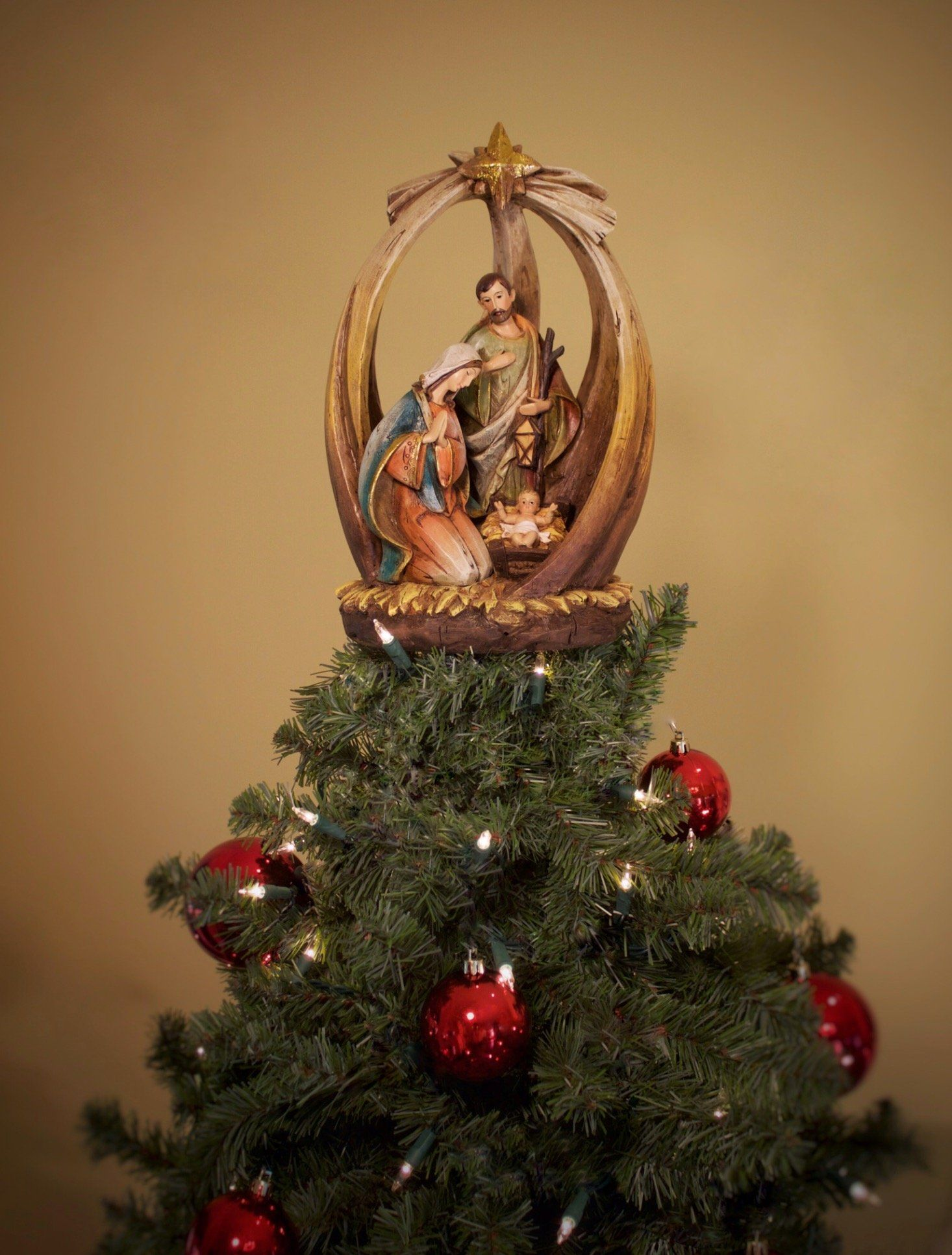 Summit Arbor Holy Family with Star Christmas Tree Topper